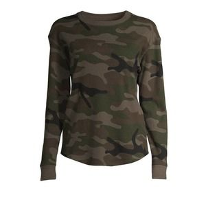 Time and Tru Womens Large Camo Thermal Shirt New